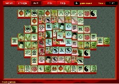 red chinese mahjong