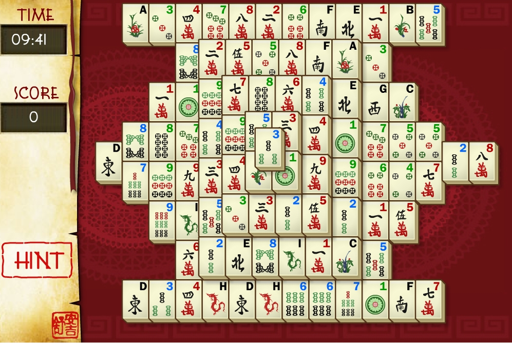 Play free online mahjong games and mahjong solitairy games.